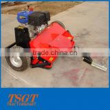Garden grass trimmer mower on ATV driven