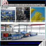 PP yarn rope machine plastic pp broom yarn making machine for bag making email:ropenet22@ropeking.com