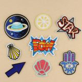 Hot selling disney factory made black tin button badge children embroidery badge with pin