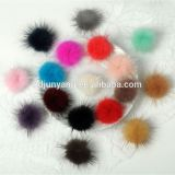 Top quality 3cm 4cm fur ball decoration real mink fur pom pom small fur ball