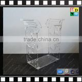 Acrylic luggage cart food serving cart modern clear acrylic hotel trolley from china manufacturer