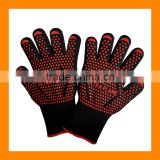 Extremely Flame and Heat Resistant Barbecue Mitts with Silicone for Grill,Smoker,Pit,Fireplace,Camping,Kitchen BBQ Ove Glove