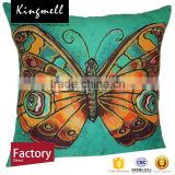 Custom home textile butterfly printed cotton cushion cojin