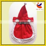 Factory R & D christmas dog costume non-woven dog dress cute dog dress red doy dress
