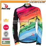 BEROY No Minimum Order Cycling Jersey, Neon Long Sleeve Cycling Apparel