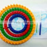 High quality 4 size Plastic round Knitting Looms/ Circular Wool weaver tools