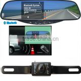 Bluetooth Handsfree Car Kit 3.5 inch TFT Monitor Rearview Mirror Night Vision Car Camera