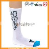classic black white cushioning blank polyester crew mens socks/basketball crew polyester mens socks