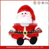 Father Christmas plush toys& sitting Santa Claus plush toys