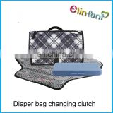 Eco-friendly Water-proof Diaper Pad Clutch Unisex Multi-functional Diaper Mat Bag