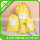Beautiful bright color drawstring bag canvas
