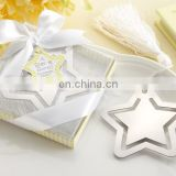 custom christmas tree star hang tags for Xmas tree, shiny silver metal Christmas Festival Decoration pendant