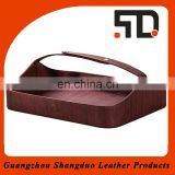 Exquisite Hotel Supplies Leather Cober Manufacturer Shoe Basket