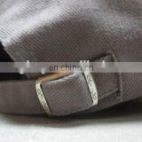 silver embossed buckle caps and hats back strap buckle