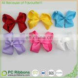 "4"" lovely grosgrain hair bow with allitagor clip at back"
