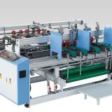 Semi-Automatic Double Pieces Corrugated Board Carton Folder Gluer Machine