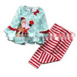 Baby clothes  FASHION Newborn Baby Boy Girl Christmas Kids Santa Dress Tops Striped Pants Set Outfits Xmas Clothes