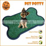 (1007) Pet product indoors 2-piece pet bed non-toxic sythetic grass bone shape pet pad