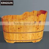Good Quality Unique Design Freestanding Portable Indoor Wooden Hot Tub