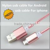 Cheap price USB Cable For iPhone 6 5S 5C 5 iPad Mini Nylon Data Charger Strong Fabric braided Wire Lead