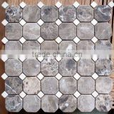 Tumbled Marble Stone Mosaic Tile HHM-Y002