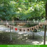 Photo Booth Props Married Wedding Bridal Decor Rustic Bunting Banner Sign