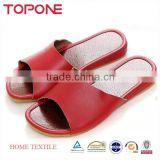 2014 Cheap Wholesale Leather Slippers For Men And Women