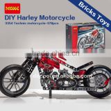 Decool Bricks Toys 378pcs Transport Series Technic Motorcycle 3354 Sets Educational DIY Toys for children