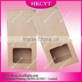 China supplier brown paper bag with clear window and custom logo