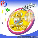 ali baba new product battery-operated robot toy with light music rotate360
