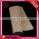 2016 Top Fashion Hot Fix Rhinestone Mesh Trimming 24 x 40cm for Decoration and Garment