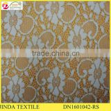High Quanlity Gold Elastic Lace Fabric for Making Dress