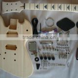PROJECT ELECTRIC GUITAR BUILDER KIT DIY WITH ALL ACCESSORIES For LEFT HANDED STYLE( K21)