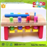 Deluxe Toddler Toy 8 Smile Face Baby Play Wooden Hammer Bench