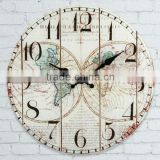 Glass Ancient Map Wall Clock