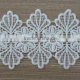 2015 new style flower chemical water-soluble cotton lace trim