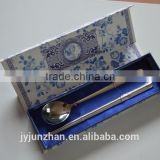 Korean spoon and chopstick set with gift blue box packing and nice design