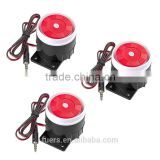 low price sound over115 db DC powered white-red-black Mini wired siren for Kerui alarm system