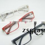 Custom made white red black design optics reading glasses /eyeglass frame spectacles frame
