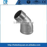 "Pipe SS304 Pipe Fitting, Class 150, Cast Stainless Steel Grade 304, 45 Degree Street Elbow, 1/2"" NPT Female x Male Threads"