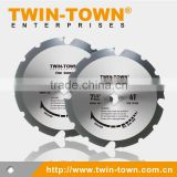 "Fiber Cement Cutting PCD Saw Blade 7-1/4-Inch 4 Teeth Polycrystalline Diamond (7-1/4"" X 4T)"