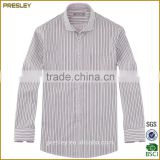 Factory wholesale quality latest style men's dress shirt striped long sleeve dress men shirt