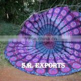 Cotton Mandala Roundie Beach Throw Hippie Round Yoga Mat Indian Handmade Tapestry Round Table Cover