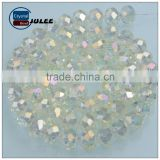 Popular crystal jewelry beads making machine lampwork glass beads reflective Round shape beads for necklace