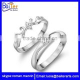 Wholesale 925 sterling silver king and queen couple ring