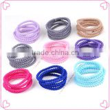 Beauty long covered elastic hair bands for girls