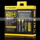 Nitecore intellicharge I4 nitecore d2/Nitecore D4 battery charger, nitecore 18650 battery and charger/18650 battery charger