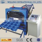 The five-star south africa type cold fromed steel iron sheet metal roof tile panel machine made in china