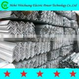 CHINA FACTORY SUPPLY Hot sell Galvanized 11kv/33kv line electric cross arm / angle iron / Angle Steel for construction