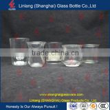 Wholesale Manufacturer Glass Bottle Wine Glass Shape Glass Candle Holder